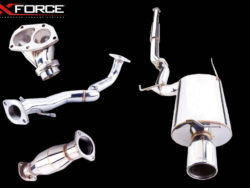 """mitsubishi Evo 7 8 9 3"""" cat back sports exhaust stainless steel xforce turbo back 100 cell metallic cat"""