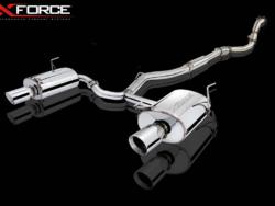 "Subaru WRX STI 3"" turbo back sports exhaust stainless steel xofrce varex remote control muffler twin dual tip"