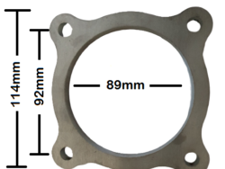 """3.5"""" 4 Bolt Stainless Steel Flange Plate"""