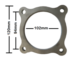 """4"""" 4 Bolt Stainless Steel Flange Plate"""