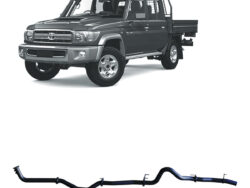 """Dual cab land cruiser 79 dpf back pipe only 3"""" exhaust"""